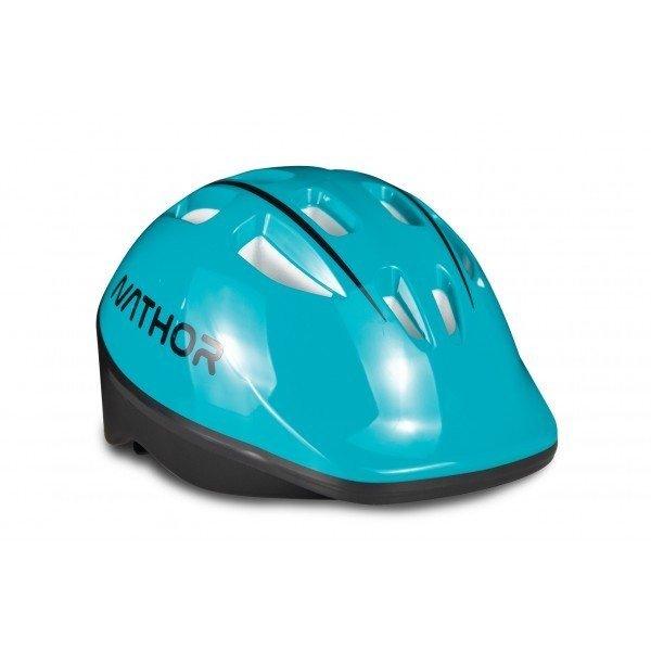 capacete azul turquesa
