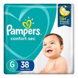 fralda pampers confort sec g mega 38und