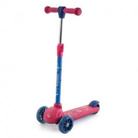 7314 patinete 3 rodas rosa