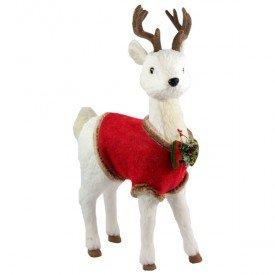 qy1350 enfeite natalino cervo com roupinha