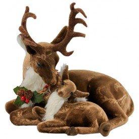 qy1336 enfeite natalino rena deitada com cervo
