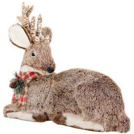 ns1302 enfeite natalino rena deitado