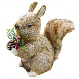 hgb1275 enfeite natalino esquilo com pinha