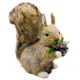 hgb1276 enfeite natalino esquilo com pinha