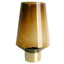 wdn9590 vaso de vidro ambar medio